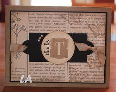 Vinatge Thank You card by LA Stamper!