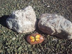 Painted rock Butterfly KRP517 by KreationsGalore on Etsy, $15.00