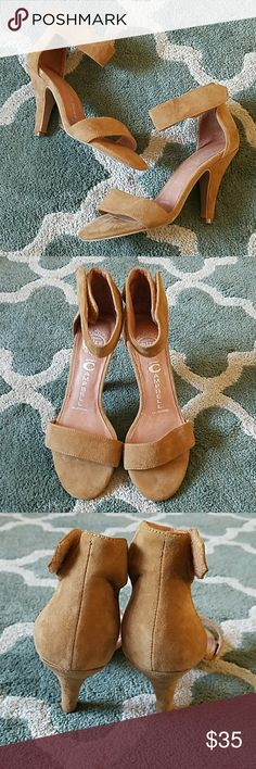 "JEFFREY CAMPBELL Ibiza Tan Suede Heels Sz 7 1/2 Great condition, some normal wear to suede only. 4.25"" heel Jeffrey Campbell Shoes Heels"
