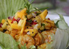 Paleo Plan, Curry, Potato Salad, Shrimp, Potatoes, Fett, Spaghetti, Ethnic Recipes, Carb Free Recipes