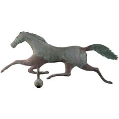 For the mantle ...     Early and Rare Running Horse Weathervane