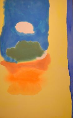 Helen Frankenthaler - Island Weather II, 1963, acrylic on canvas