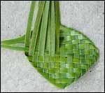 weaving a flax flower step 10
