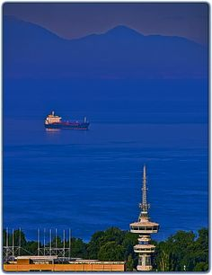 The Thermaic Gulf ~ Thessaloniki, Greece An Unexpected Journey, Thessaloniki, Nature Pictures, Seattle Skyline, Places To See, Norway, The Good Place, Around The Worlds, Ocean
