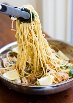 Garlic Butter Shrimp Pasta | girlgonegourmet.com