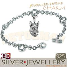 German shepherd charm jewelry