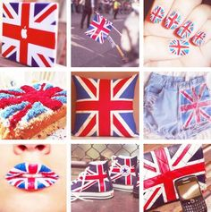 #British #England #Mac #Flag #Nails #Cake #Shorts #Lips #Converse