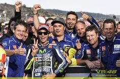 Valentino Rossi starts from pole position tomorrow 11/9/14 for the first time in over four years!