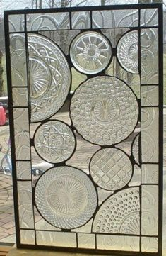 OK- this is pretty much incredible!!! Vintage Crystal Plate panel