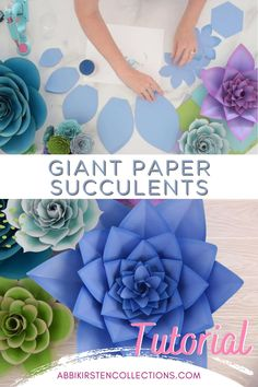 Paper Flower Patterns, Large Paper Flowers, Tissue Paper Flowers, Paper Flower Tutorial, Diy Flowers, Paper Succulents, Creation Deco, Paper Crafts Origami, Flower Crafts