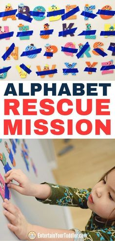 Kinesthetic learning activities - Alphabet Rescue Mission for Letter Recognition – Kinesthetic learning activities Alphabet Learning Games, Learning Games For Preschoolers, Toddler Learning Activities, Letter Activities, Literacy Activities, Preschool Activities, Kids Learning, Indoor Activities, Alphabet Games For Kindergarten