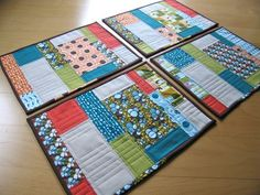 Scrappy Placemats by @Elizabeth Lockhart Hartman from #Ohfransson!