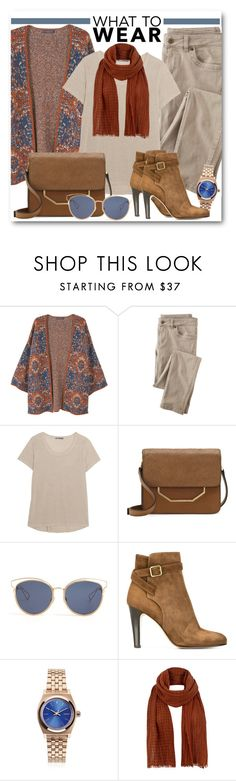 """""""What to Wear: Weekend Style"""" by brendariley-1 ❤ liked on Polyvore featuring MANGO, Wrap, Vince, Louise et Cie, Christian Dior, Michel Vivien, Nixon and Jigsaw"""