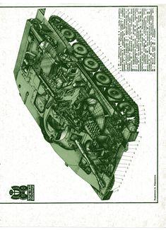 компоновка  советского плавающего танка ПТ-76