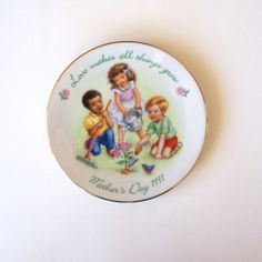 Mother's Day Avon Plate Love Makes All by MyForgottenTreasures, $4.00