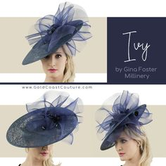 This week's featured Kentucky Derby hat reminds us that when it comes to Derby hats, size matters! This piece from Gina Foster Millinery features a frilly yet timeless design that's perfect for shading your face and making a statement. Size Matters, Derby Day, Fancy Hats, Love Hat, Fascinators, Kentucky Derby, Timeless Design, The Fosters, Ivy