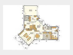 Favorit 416 - Einfamilienhaus von Hanlo Haus - eine Marke der Green Building Deutschland GmbH | HausXXL House Plans, Floor Plans, Home And Garden, How To Plan, Bungalows, Home Decor, Dreams, Log Projects, New Home Plans