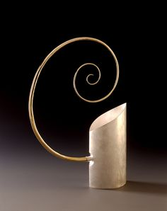 Evin O'Dwyer...Vessel, gold plated handle, sterling silver vessel