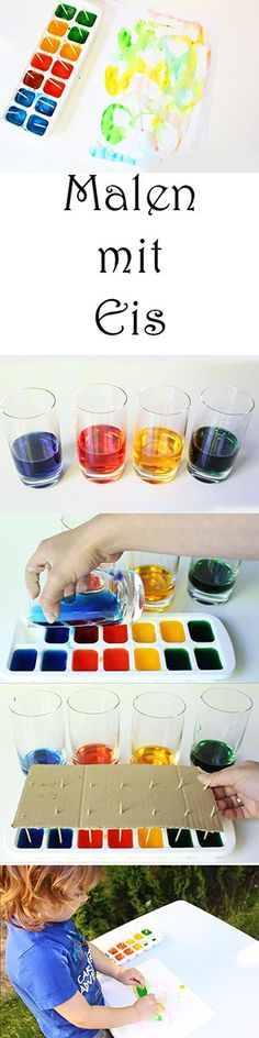 5 Ideen zum Malen und Spielen mit Eis im Sommer + Video — Mama Kreativ Playing with children in summer – painting with ice cubes Diy For Kids, Crafts For Kids, Children Crafts, Summer Painting, Ice Painting, Action Painting, Diy Crafts To Do, Christmas Ad, Drawing For Kids
