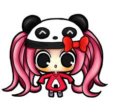 Panda girl chibi by KaraWingsxX on DeviantArt                                                                                                                                                                                 Mais