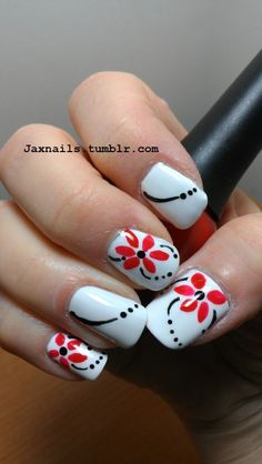red and black nails..perfect color combination!