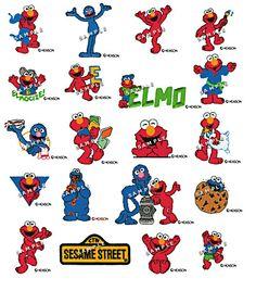 SESAME STREET ELMO Machine Embroidery Designs--Pes Format