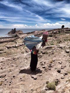 Poblador de la Isla de Taquile - lago Titicanca