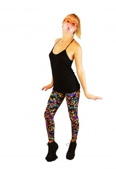 34650d89248b9 Black Splotch Leggingz: Poly-Spandex. Made in NYC. Size chart: Small (0-2)  Medium (4-6) Large (8-12) $65