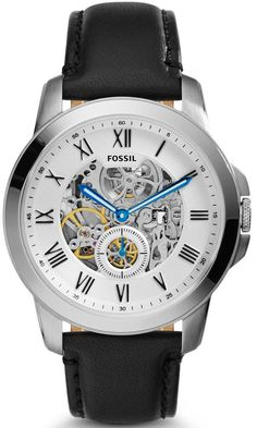 Fossil Watch Grant Mens #add-content #bezel-fixed #bracelet-strap-leather #brand-fossil #case-material-steel #case-width-44mm #delivery-timescale-1-2-weeks #dial-colour-white #fashion #gender-mens #movement-automatic #new-product-yes #official-stockist-for-fossil-watches #packaging-fossil-watch-packaging #style-dress #subcat-grant #supplier-model-no-me3053 #warranty-fossil-official-2-year-guarantee #water-resistant-50m