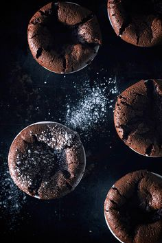 Flourless Dark Chocolate Souffle with Earl Grey Cream via The Artful Desperado
