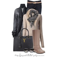 """Neutrals & Gray"" by jaycee0220 on Polyvore"
