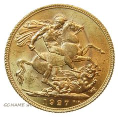South Africa 1927 Sovereign George V Gold Oro Or #412