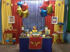 images of wonder woman party for girls - Bing images Wonder Woman Birthday, Wonder Woman Party, Birthday Woman, Women Birthday, Girl Superhero Party, 60th Birthday Party, Birthday Ideas, Birthday Display, Bday Girl