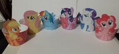 DIGITAL FILE PRINTABLE My Little Pony cupcake wrappers by iamsoxhy