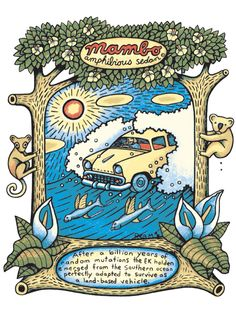 Mambo EK Holden Australian Painting, Australian Artists, Fat Freddy's Cat, Surf Design, Mombasa, Abstract Landscape, Art Projects, Art Pieces, Year 8