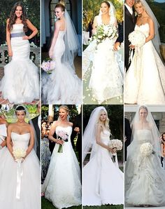 Celebrity wedding gowns, who's wearing your favourite? For more inspiring wedding ideas come visit our other Veilability wedding boards or www.veilability.com.au