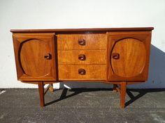 Console Mid Century commode moderne de Style danois TV Media mobilier armoire…
