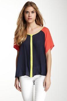 Madison Marcus Multicolor Silk Blouse