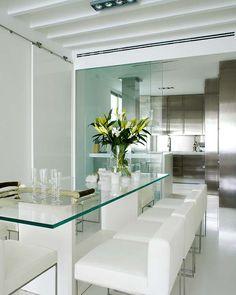 Duplex Alicante Abra Blanca y Airy Apartment Design Puertas correderas de cristal en la cocina Apartamento Diseño de Alicante Duplex - Inicio Diseños y fotos