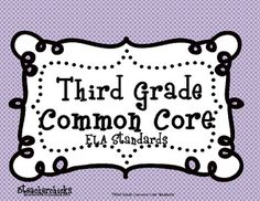 Pin now read later: Freebie for 3rd grade! UPDATED!  This Common Core Standards Checklist for English Language Arts is unique in that it contains the teacher objective and kid friendly langu...