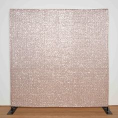 Rose Gold Sequin backdrop for photo booth, wedding, bar mitzvah, birthday party, kids, photography, event, decor. RENT this backdrop online at - www.bashdrops.com