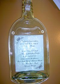 personalized flattened wine bottle platter  sold in Savannah on River Street Market
