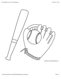sports coloring page with a picture of a large baseball to color sports pinterest. Black Bedroom Furniture Sets. Home Design Ideas