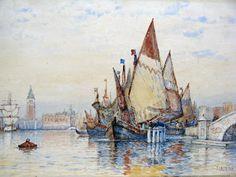 Grand Canal, Venice - Victorian British Painting: Frederick James Aldridge