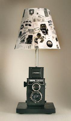 Vintage Lubitel Lomo 166B Camera Lamp with by leeannsvintagedecor