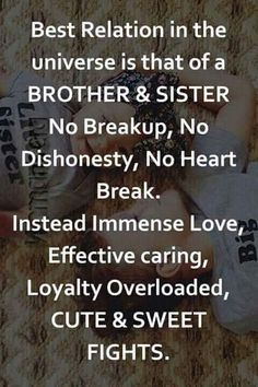 Birthday wishes for brother quotes life 23 Ideas Bro And Sis Quotes, Brother Sister Love Quotes, Brother And Sister Relationship, Sister Quotes Funny, Funny Quotes, Younger Brother Quotes, A Brother, Funny Humor, Birthday Wishes For Brother