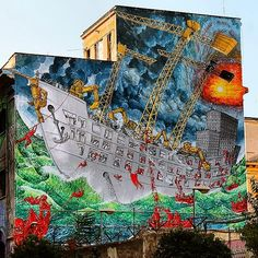 by BLU - New wall in Rome, Italy - Oct 2014