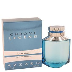 Chrome Legend by Azzaro 2.6 oz / 75 ml EDT Cologne Spray for Men New in Box #Azzaro