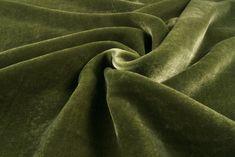 Olive Velvet Silk - online discount fabrics outlet Diana Fabrics store