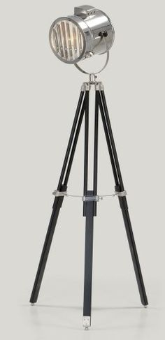 The Alfred Tripod Lamp in Black. A statement piece with a sleek, shuttered shade. £149 | MADE.COM